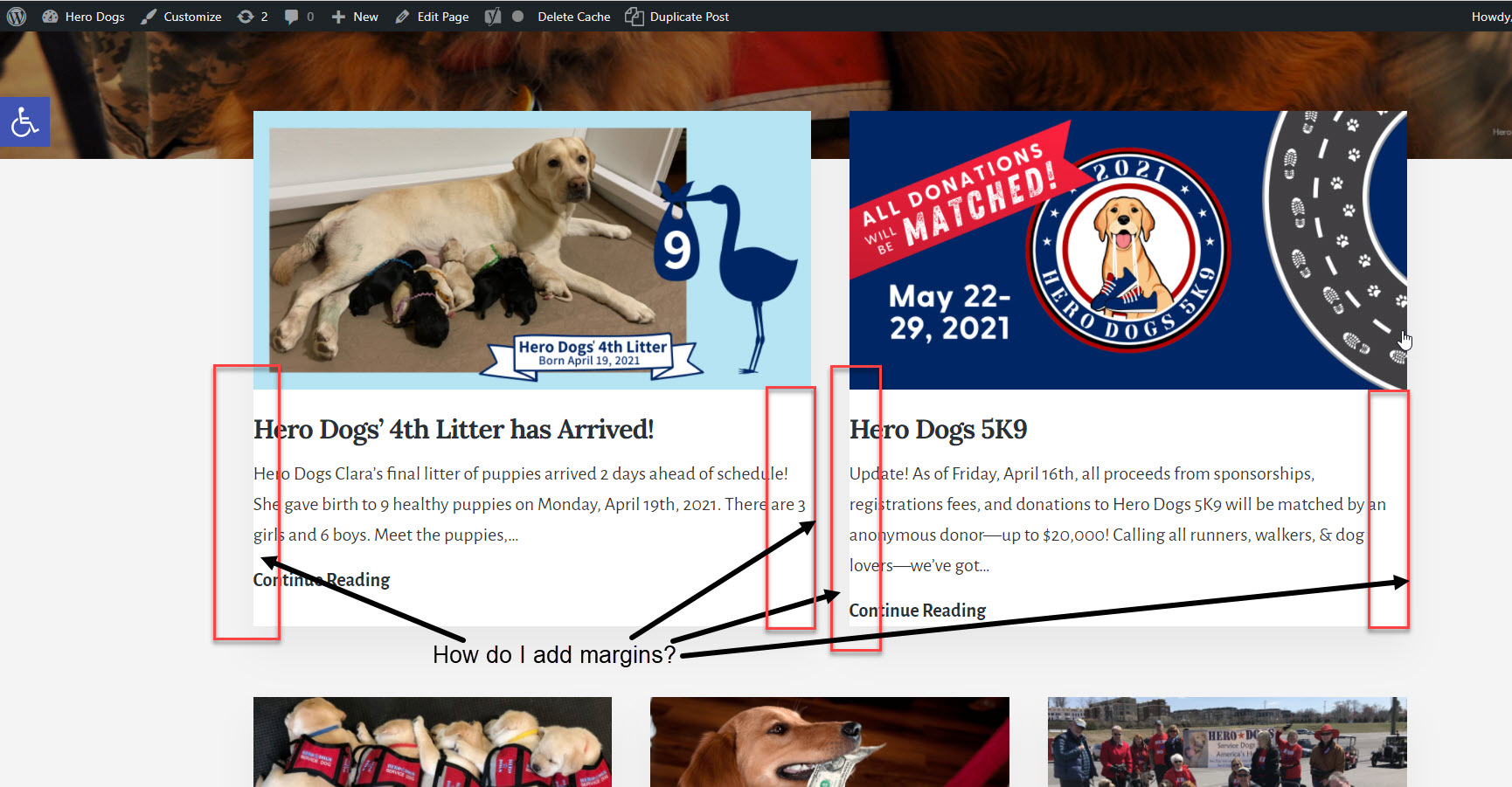 Hero Dogs Home Page