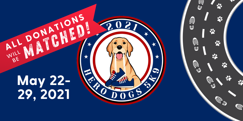 Hero Dogs 5K9 logo/banner plus match