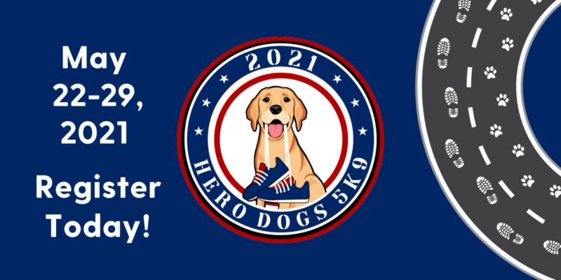 Hero Dogs 5K9 logo/banner