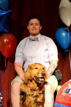 Veteran Trinity N. and Hero Dogs York (2016)Hero Dogs Graduate